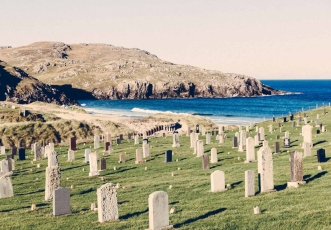graves beside the sea