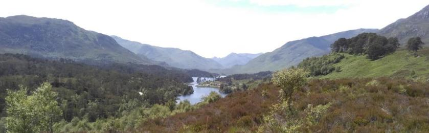 Mountains and lochs in Glen Affric