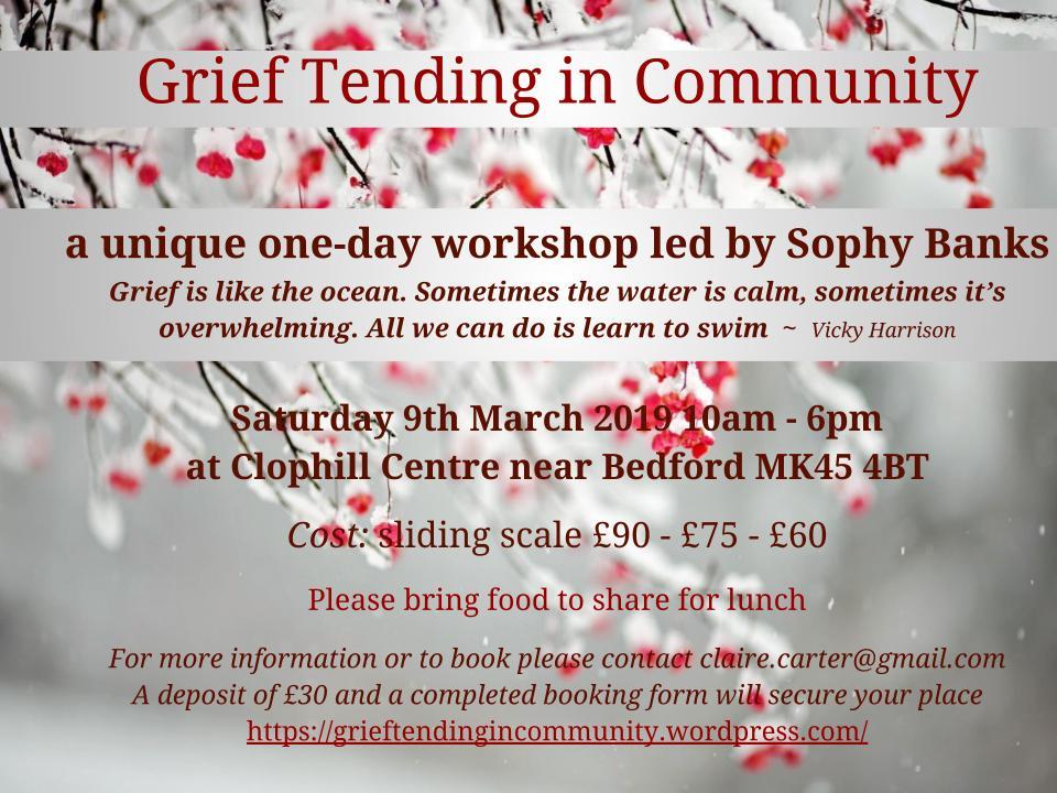 Grief Tending in Community flyer Bedford