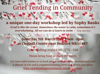 Grief Tending in Community flyer Bedford