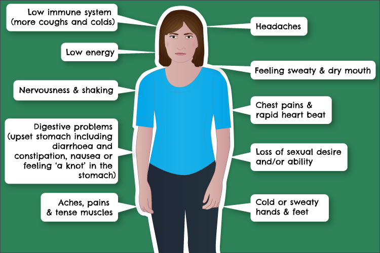 Stress affects many parts of the body